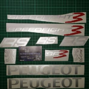 Peugeot speedfight 3 RS Decals/Stickers